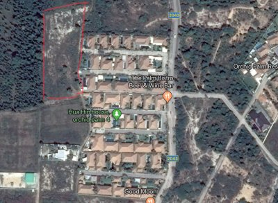 6 Rai of land for sale behind Orchid Palm Homes, top of Soi 88 Hua Hin