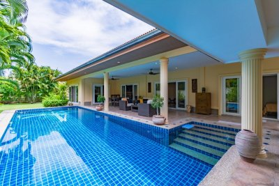 Orchid Palm Homes 3 : Great Quality & Design 3 Bed Pool Villa on completed Development of award winning Developer Hua Hin