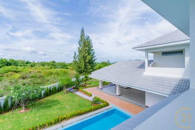 THE LEES 3 : Brand New 5 Bed Pool Villa with additional 1 Bed and bathroom Maids Quarters Hua Hin.
