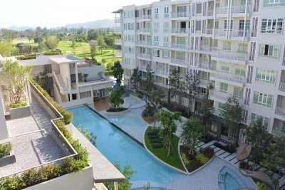 Fully Furnished Golf and Sea View Apartment Near Hua Hin Town