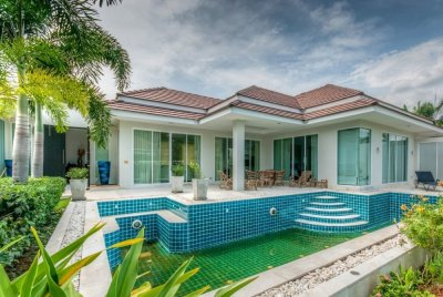 Beautifully Designed and Maintained 3 Bed Pool Villa västra Hua Hin