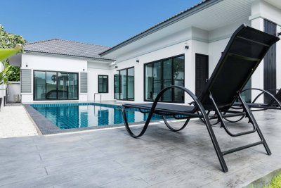 New built pool villa Pak Nam Pran Pranburi near Hua Hin