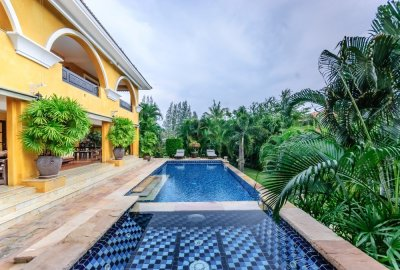 Mediterranean 2 Storey 3 Bed Pool Villa Tastefully Decorated Throughout with Maids Quarters Hua Hin
