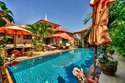 Great Design 3 Bed Bali Pool Villa with 1 Bed Guest House&1 Bed Maids House Sam Roi Yot Pranburi