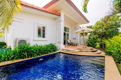 2 Bed Bali Style Resort Private Pool Villa södra Hua Hin